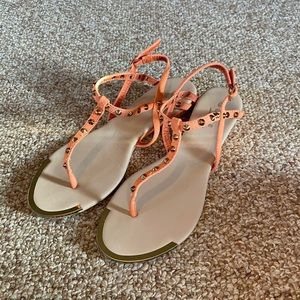 New Condition Peach Studded Strappy Sandals